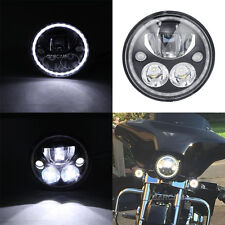 "7"" LED Daymaker Headlight Bulb Halo Ring For Harley Softail Fat Boy FLSTF/I"