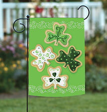 New Toland - Shamrock Cookies - Cute Holiday Frosting Cookie Garden Flag