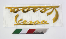 GOLD VESPA 3D STICKER Emblem Stickers Decal for Vespa WITH ITALIAN FLAG