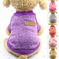 1x Dog Puppy Cat Coat Sweater Clothes Jacket Sweatshirt Pet Supplies Gift Hot