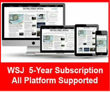 [BESTSELLER] Wall Street Journal WSJ 5-Year Digital Subscription All Platforms