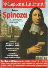 MAGAZINE LITTERAIRE N° 493 / DOSSIER SPINOZA - MARGUERITE DURAS - LUIS SEPULVEDA
