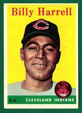 1958 Topps Baseball #443 BILLY HARRELL RC SP -INDIANS -EXMT