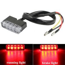 Motorcycle 5 LED Rear Brake Stop Tail Light License Plate Lamp For ATV Bike Red