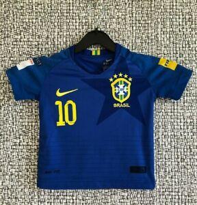 Neymar JR Brazil Team Brasil Football Shirt Soccer Jersey Maglia Camisa Boys
