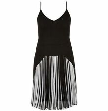 CITY CHIC M 18 NWT RRP $119.95 DRESS BLACK WHITE PLEATED DIVA 1920's INSPIRED