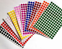 Color Coded Stickers 3/8 Labels Round Small Dots 0.375 Inch Circle 10mm 700 PACK