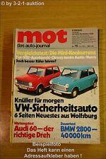 MOT 16/71BMW 2800 Audi 60 2 CV Mini Fiat 770 500