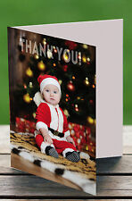 50 x Personalised Christmas/Birthday Thank you Photo Cards Blank Inside H1556