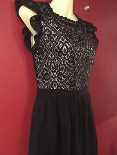 XHILARATION Women's Black Empire Waist Dress - Juniors Size XS - NWT