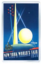 NEW YORK 1939 VINTAGE REPRO MOD2 FRIDGE MAGNET IMAN NEVERA
