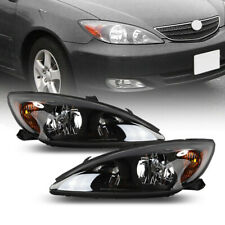 Headlights Head Lamps Black Housing Leftright Pair For 2002 2004 Toyota Camry