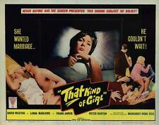 THAT KIND OF GIRL Movie POSTER 22x28 Half Sheet Margaret Rose Keil David Weston