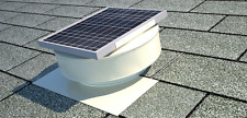 Attic Exhaust Fan Solar Powered Vent Roof Mounted Panel White Durable Aluminum
