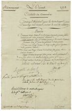A Scarce War Date Military Document Signed By French Admiral Comte de Grasse