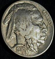 1936-P  BUFFALO NICKEL Indian Head US 5 Cent COIN