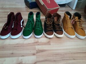 2 pairs of vans hi's,2 pairs of polo hi's size 11.5,and 12