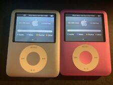 LOT x2: Apple iPod Nano 3rd Gen (4GB & 8GB) SILVER & PINK