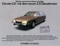 Prospekt Citroën CX 2500 D 3 78 Autoprospekt 1978 Broschüre Citroen Autoprospekt