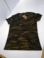 XUDIAN Short Sleeves Men's T-Shirt Crew-Neck (US Large, V-Camouflage)
