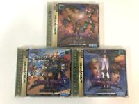 Lot of 3 Shining Force III Scenario 1,2,3(Sega Saturn, 1998) from japan