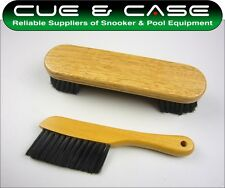 "Snooker & Pool Table BRUSH SET - Includes 9"" Brush & Rail Brush"