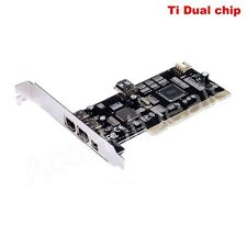 PCI IEEE 1394a Card 1394a FireWire 6P+4P to PCI Adapter Ti Dual chip