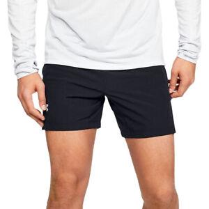 Under Armour UA HeatGear Speedpocket Linerless Black Mens 7 Inch Running Shorts