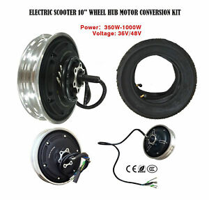 """10"""" 36V/48V 350-1000W Universal Electric Scooter Wheel Motor with Vacuum Tire"""