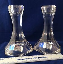 Candle Holder 24% Lead Crystal Clear Industries Austria VERSATILE candlestick ud