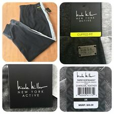 NWT - NICOLE MILLER Active bold color block charcoal gray jogger pants - 3X