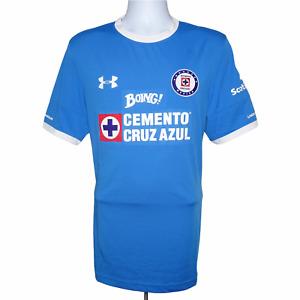 2016-2017 Cruz Azul Home Football Shirt Under Armour Large (Excellent Condition)