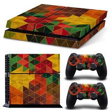 PS4 Skin buntes Mosaik Designfolie Sticker Playstation 4 Vinyl Schutzfolie  Matt