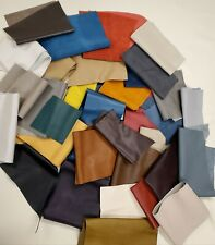 5 lbs Upholstery Cow Hide Scrap Leather Pieces, Mixed Color, Size and Weight