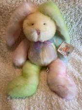 "Snuggie Toy Easter Bunny Rabbit 16"" Tie Dye Plush Soft Stuffed Animal Rainbow"