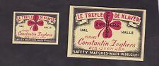 Ancienne étiquette Allumettes Belgique BN24845 Le Trèfle de Klaver