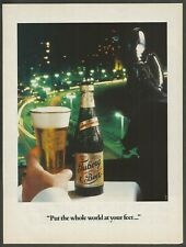 TUBORG BEER ''Put the whole world at your feet...'' - 1988 Vintage Print Ad