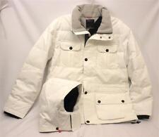 NWT Nautica J43392 White Down Hooded Men's L Water Repellent Parka  Coat