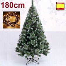 Arbol de navidad 1,80 m 180 cm Pino verde nieve + luz led 100 LUCES SUPER OFERTA