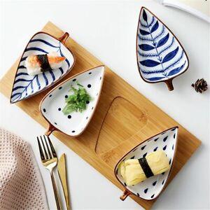 shape Cake Plate Storage Tray Ceramic Dish Snack Fruit Plate Dessert Tableware