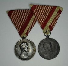 Austria Hungary 1917 Medal of Bravery KAROLY / FORTITUDINI Silver & Bronze Medal