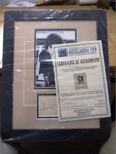 Framed Photo and signature / autograph of DUDLEY MOORE inc Authentic Certificate