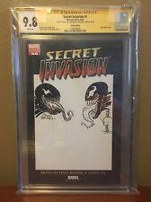 CGC 9.8 SS Mike Zeck John Beatty Jam Venom Sketch Cover Amazing Spiderman #300 Comic Art