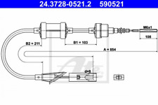 Seilzug, Kupplungsbetätigung für Kupplung ATE 24.3728-0521.2
