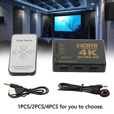 5 To 1 HDMI Splitter Selector Switch Full HD 1080p 3D 2K 4K IR With Remote Hub B