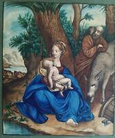 Vierge à l'enfant Aquarelle sans doute 19ème