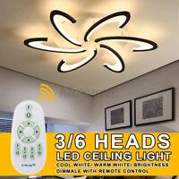 3/6 Head Modern LED Lamp Chandelier Ceiling Light For Living Room Bedroom Indoor