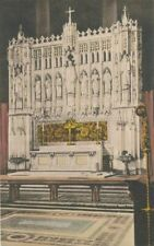 NEW YORK CITY -Cathedral of St. John the Divine High Altar-Hand Colored Postcard