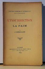 CORNILLON : L'insurrection de la faim. Bourbonnais - Allier - Franchesse - Lurcy