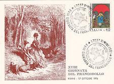 ITALIA CARTOLINA 1976 GIORNATA FRANCOBOLLO ANNULLO SPECIALE FDC RIMINI